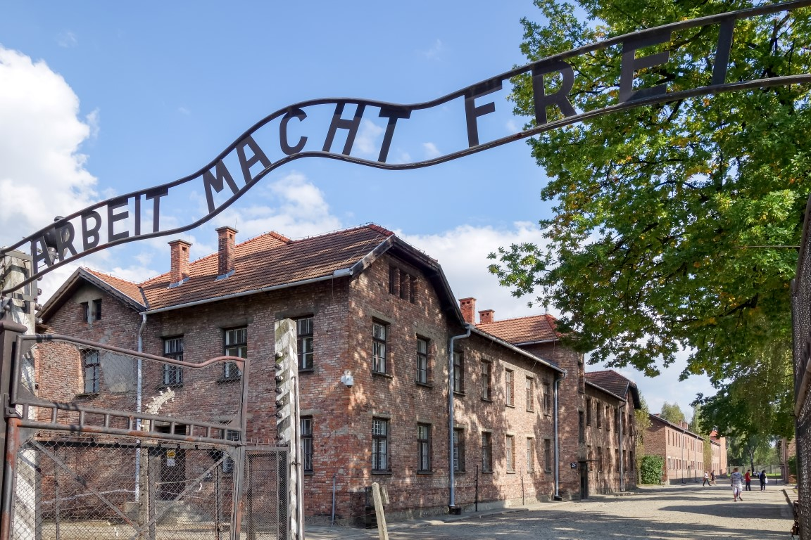 Auschwitz concentration camp in Oswiecim Poland