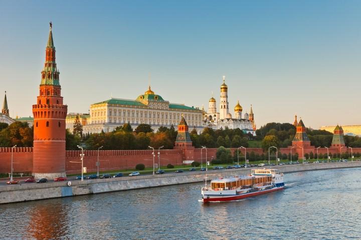 Moskou Kremlin en Rivier 2